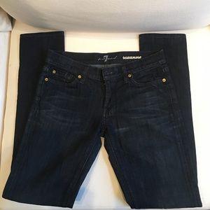 7 For All Mankind Roxanne darkwash skinny jeans 27